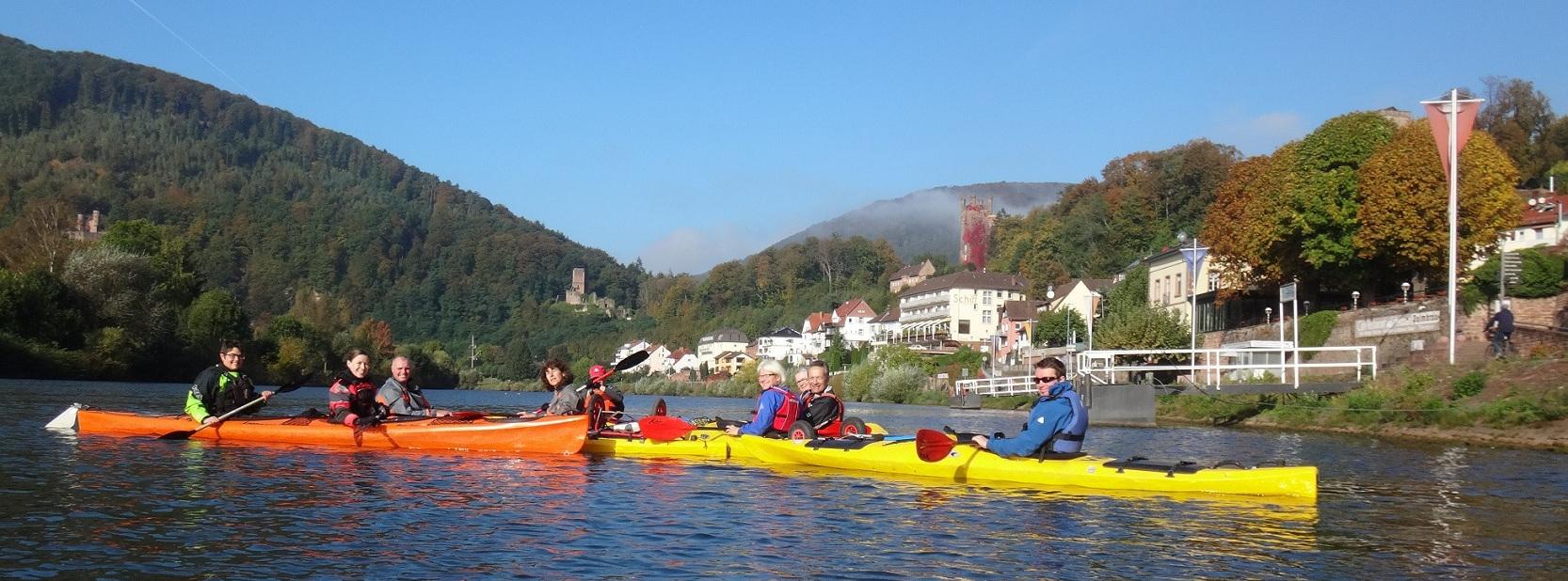 Kanusport auf dem Neckar